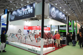 COLIPED歐洲聯展區在台北國際自行車展中佔地最廣
