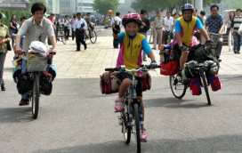 Girl Cycles to Tibet