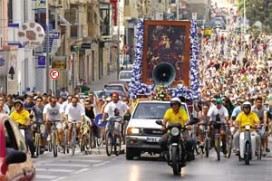 3000 Cyclists make Pilgrimage to Zabbar