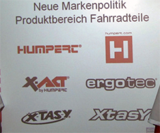 Humpert with Changed Brands at Eurobike