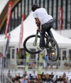 Acrobatic Jumps into Eurobike Lake