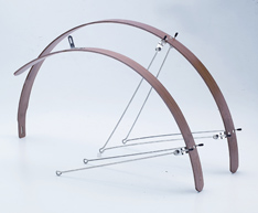 Bamboo Fenders Give Bikes Retro Style Look