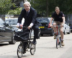 Boris Johnson Visits Brompton Bicycle