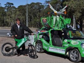 Seven-Day Distance Record on Australian E-bike