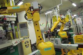 機器人進入台灣零件製造產業