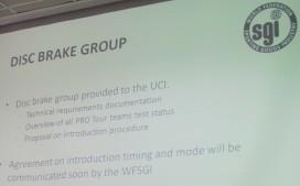 UCI認證公路車輪組和座墊有進展