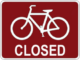 Bike europe bike shop closed sign 80x60
