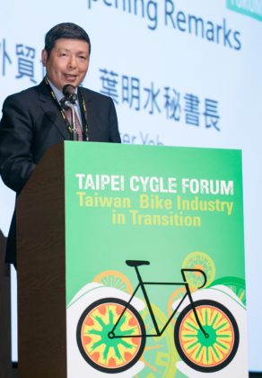 Walter Yeh, President of Forum organizer TAITRA 'It's about connecting Taiwan to ecommerce, industry 4.0 and to e-bikes'. – Photo Taipei Cycle Forum