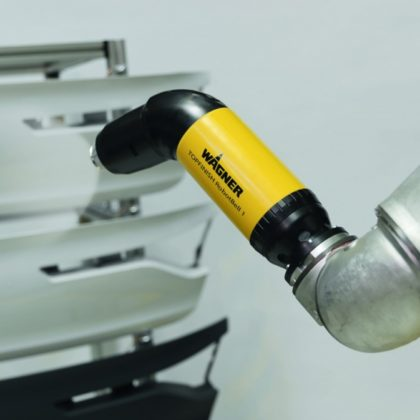 WAGNER TOPFINISH RobotBell 1: High-speed rotation atomizer for robot applications.