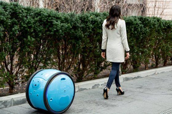 The Vespa e-scooter comes optionally with Piaggio's transport robot Gita.