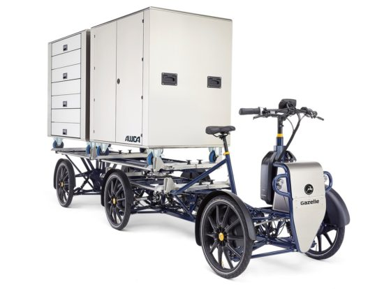 Gazelle's answer on growing demand for last mile inner city transport: the Light Electrical Freight Transporter. – Photo Gazelle