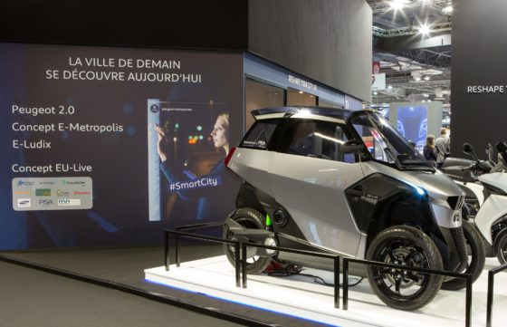 'EU-LIVE' was presented last year and now on display at the Peugeot booth on Mondial de la Moto 2018 in Paris. – Photo Peugeot