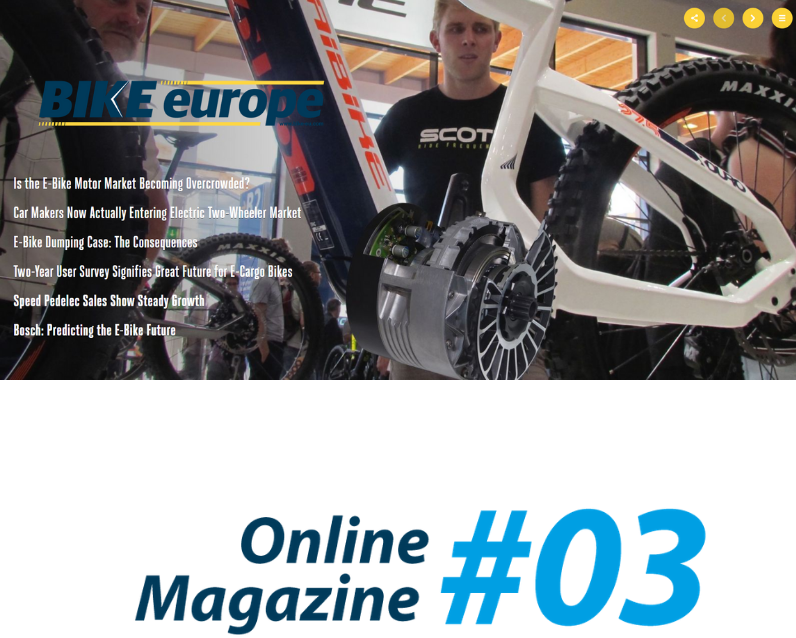 Online Magazine 3: E-Bike Market Attracts More Automotive Suppliers
