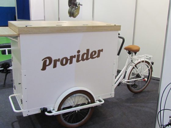 Cargobike made in Taiwan by specialist Kentex Machinery.