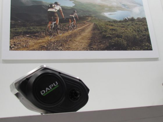 Mid-motor are becoming more compact. This is Dapu's newest e-MTB motor weighing 2.2kgs.