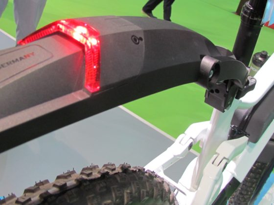 Parts makers like SKS are innovating for linking-up to e-MTB trend. Monkey-link is SKS's mount system for all kinds of accessories.