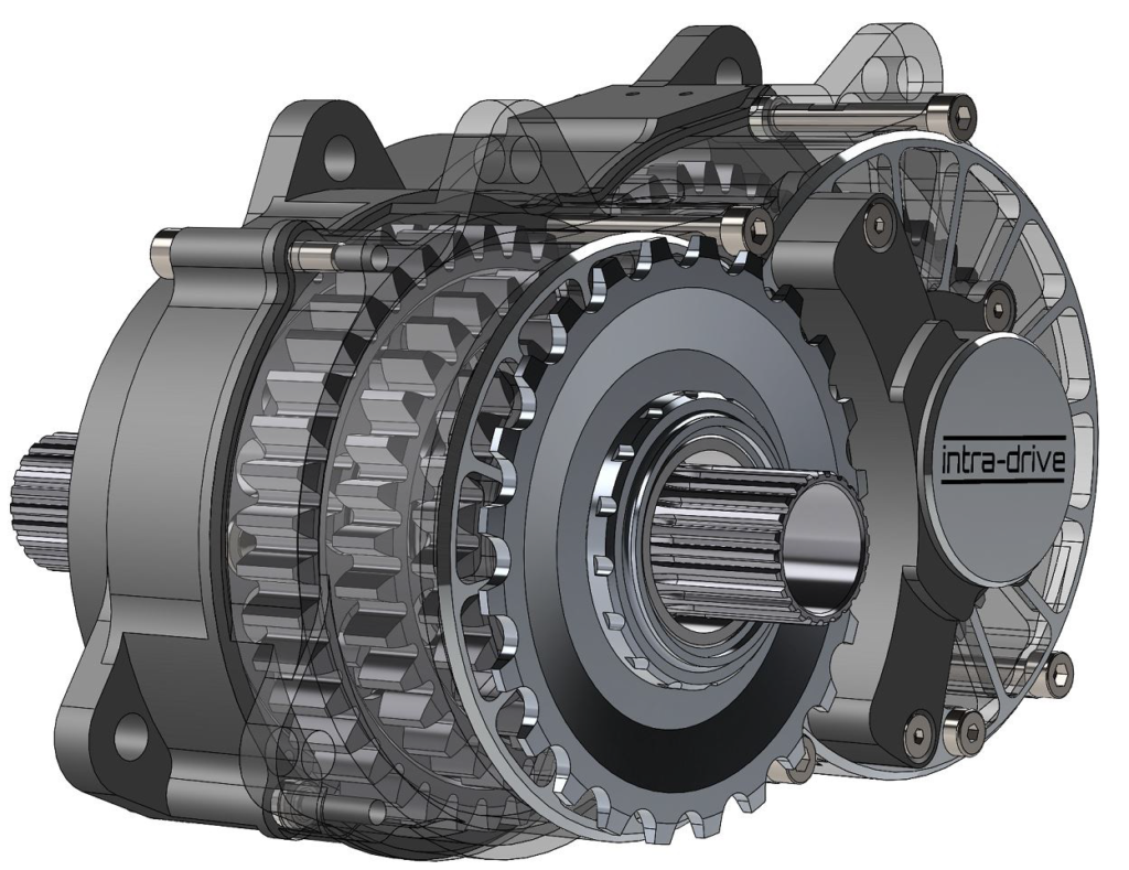 Scottish Intra Drive Integrates Mid Motor And 8 Speed Gearbox Bike Europe